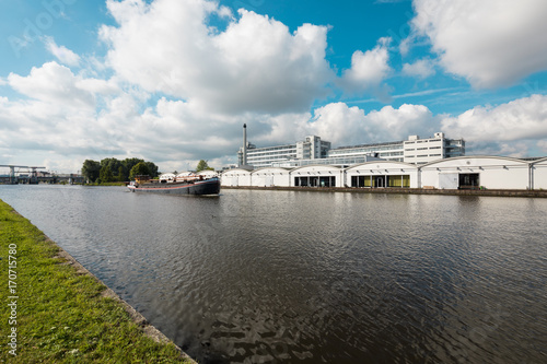 Dutch industrial landscape on the river