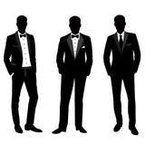 Wedding men's suit and tuxedo.