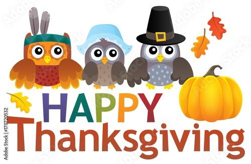 Fotobehang Voor kinderen Happy Thanksgiving theme 2