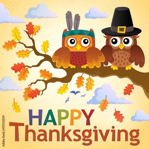 Fotobehang Voor kinderen Happy Thanksgiving theme 3