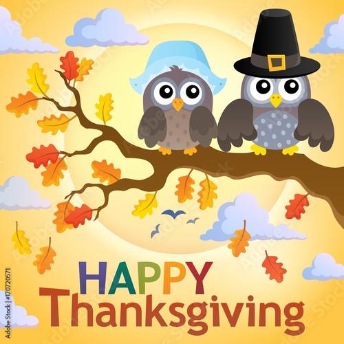 Fotobehang Voor kinderen Happy Thanksgiving theme 4