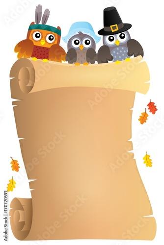 Fotobehang Voor kinderen Thanksgiving theme parchment 7