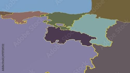 La Rioja - Spain, autonomous community extruded. Solids