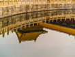 Reflection of Chinese building in moat at the Forbidden City