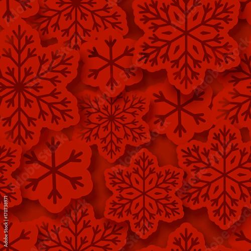 Materiał do szycia Seamless pattern with paper snowflakes