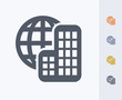 Постер, плакат: Multinational Carbon Icons A professional pixel perfect icon designed on a 32x32 pixel grid and redesigned on a 16x16 pixel grid for very small sizes