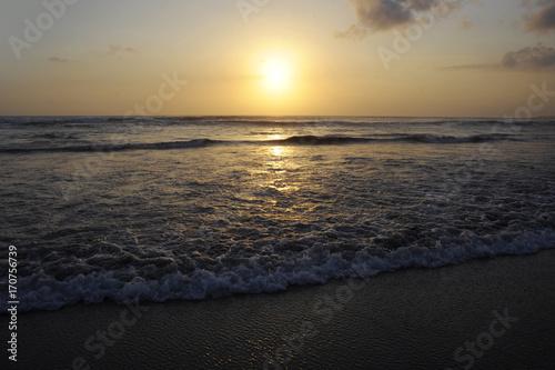 Papiers peints Bali Amazing beautiful sea landscape sunset view of Seminyak Double Six beach in Bali island of Indonesia
