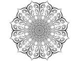Decorative pattern mandala. Oriental round symmetrical ornament