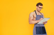 Fit man in apron