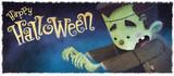 niño frankenstein en halloween