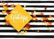 Hello fall striped card