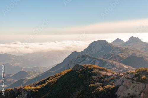 Aluminium Blauwe hemel sandstone peak in malibu