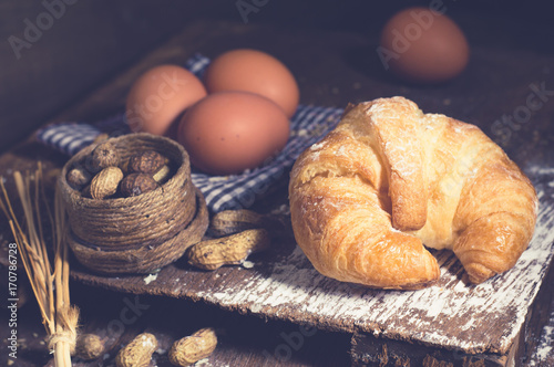 bread roll Croissant Poster