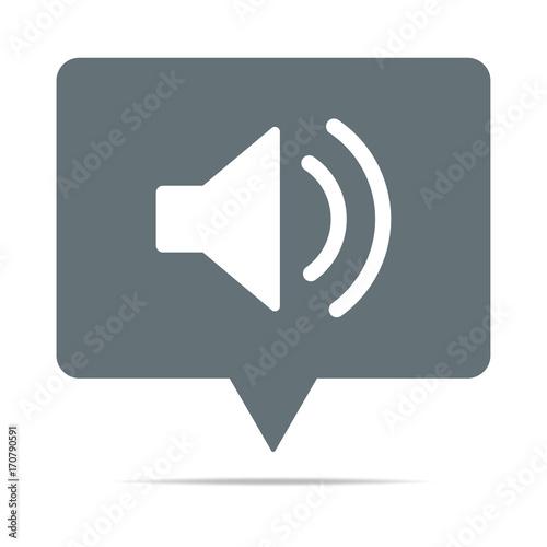 GamesAgeddon - Blaue Sprechblase mit Lautsprecher - Laut ...