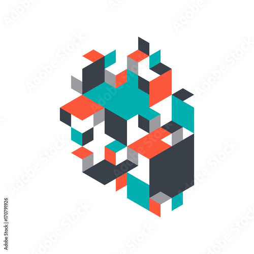Abstract background decorative with isometric shape