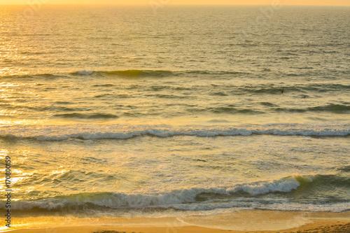 Foto op Aluminium Strand Sunset over the Mediterranean Sea at Ashkelon, Israel