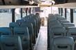 passenger compartment of a big shuttle bus