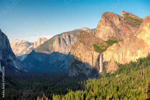 Sunset on Yosemite Valley, Yosemite National Park, California  Poster