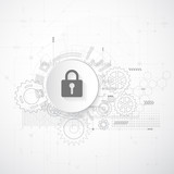 Abstract security digital technology. Protection concept background. Vector Illustration - 170806112