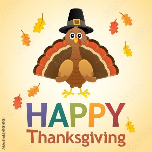 Fotobehang Voor kinderen Happy Thanksgiving theme 6