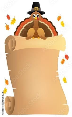 Fotobehang Voor kinderen Thanksgiving theme parchment 8