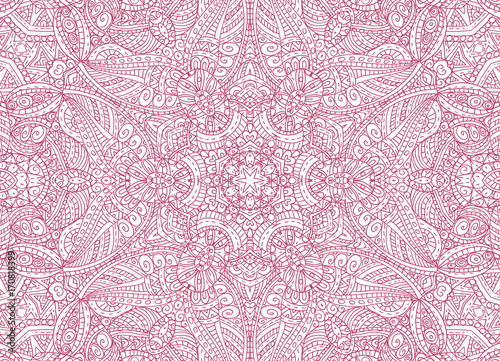 Abstract concentric outline pink pattern - 170818399