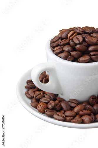 Aluminium Koffiebonen coffee beans in a cup