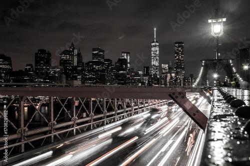 Foto op Canvas Brooklyn Bridge Brooklyn Bridge by Night 1