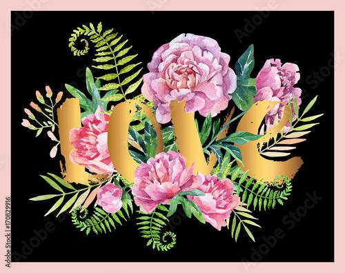 Watercolor love frame - 170829916