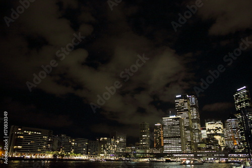 Fotobehang Sydney シドニー港の夜
