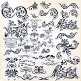 Calligraphic vector vintage design elements and page decorations - 170837594
