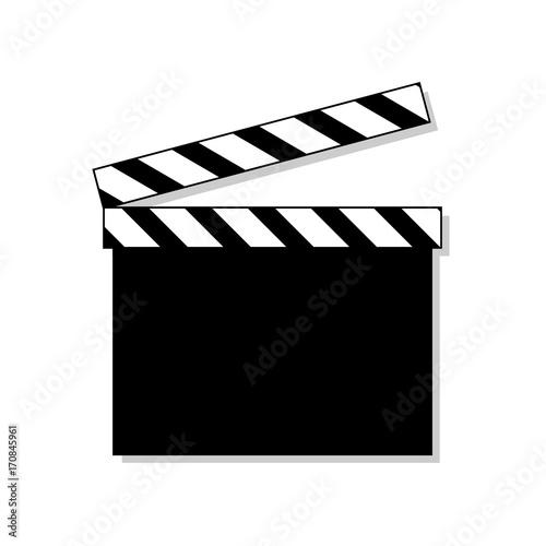 Clapper board icon isolated on background. Movie clapper board. Cinema symbol. Vector stock.