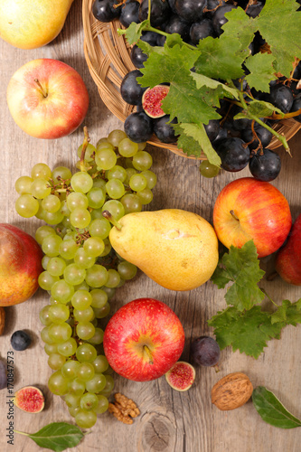 assorted autumn fruit