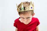 rebellious spoiled kid with crown for mad attitude, high angle - 170849576