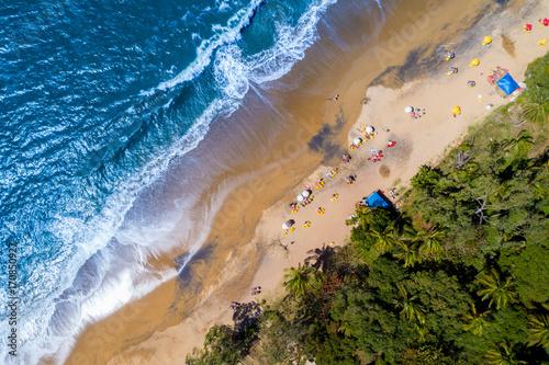 Deurstickers Canarische Eilanden Top View of a Tropical Beach