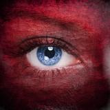 Textured human face close up - 170858583