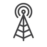 Antenna line icon - 170860158
