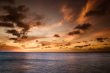 Sunset Beach with ocean and dramatic sky - 170862987