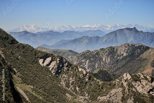 Fotobehang Cappuccino Alps