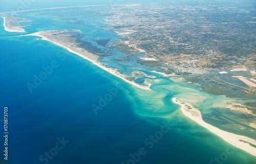 Fotobehang Pool Aerial view of Olhão, Algarve, Portugal.
