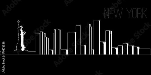 Skyline of New York - 170876338