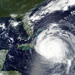 Quadro Hurricane Irma heading towards Bahamas and Miami, Florida - Elements of this image furnished by NASA