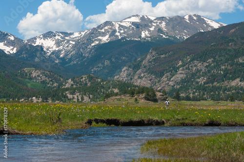 Fotobehang Groen blauw Colorado Rockies