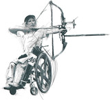 Para Archery. Para Sport and Movement. An hand drawn multi-layered vector. - 170880774