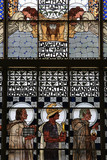 Am Steinhof church (church Leopld). Stained glass by Koloman Moser. The Veil of Veronica. Steinhof Church built by Otto Wagner between 1902 and 1907.