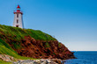 Lighthouse on the cliff at Souris, Prince Edward Island