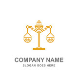 Law Firm Legal Justice Scale Logo Vector  - 170899349