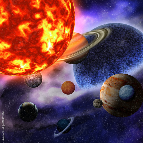 planets of the solar system. This image elements furnished by NASA.