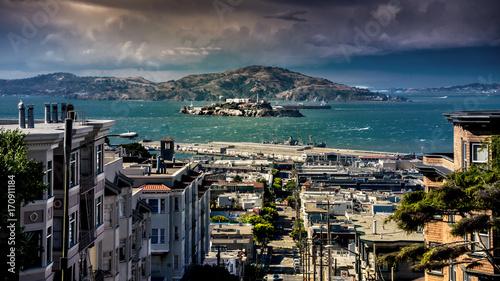 Fotobehang San Francisco Alcatraz & San Francisco Bay