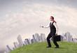 Blindfolded businessman concept - 170916335